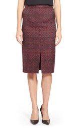 Halogen® Slit Front Pencil Skirt (Regular & Petite)