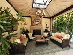 Sophisticated Outdoor Living Space | HGTVRemodels.com