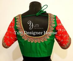 Kemp work Bridal blouse by YUTI! Beautiful red and green color combination designer blouse… - http://sorihe.com/blusas02/2018/03/19/kemp-work-bridal-blouse-by-yuti-beautiful-red-and-green-color-combination-designer-blouse/ #blouses #tops #whiteblouse #blousesforwomen #ladiesblouse #blackblouse #silkblouse   #redblouse #blouseonline #chiffon #blouses #tops #white blouse #blousesforwomen #ladiesblouse #blackblouse #silkblouse #redblouse #blouseonline #chiffonblouse #whiteshirtwomens…