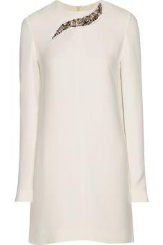 Victoria Beckham|Embellished crepe…