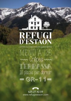 Cartell Estiu 2013 - Refugi d'Estaon