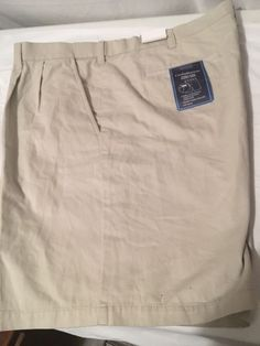Nwt Croft & Barrow Kohls Men's Cotton Khaki Tan Shorts Sz 42  | eBay