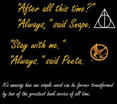 Harry Potter and The Hunger Games<3
