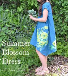 DIY Dresses to Sew for Summer - Summer Blossom Dress - Best Free Patterns For Dress Ideas - Easy and Cheap Clothes to Make for Women and Teens - Step by Step Sewing Projects - Short, Summer, Winter, Fall, Inexpensive DIY Fashion http://diyjoy.com/sewing-dresses-patterns-summer