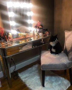 Loving this glamorous setup @beautybysuee's handsome friend definitely adds the purrfect touch Featured: #ImpressionsVanityHollywoodGlow in Rose Gold
