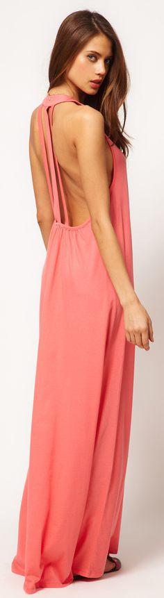 ASOS Maxi Dress With Triple Strap Back Detail