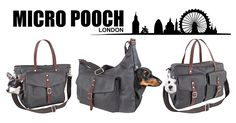 Dog Carriers by Micro Pooch - Available in 3 sizes - Small Pet Carrier | Medium Pet Carrier | Large Pet Sling Carrier. (Chihuahua, Maltese, Yorkie, Dachshund).