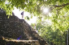 Hiking up a Mayan temple in Belize! #adventure #wanderlust