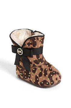 Every baby girl must have a pair of animal print booties! MK