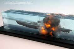 Credit to Won-hui via Facebook. Amazing diorama depicting death of U-571. Amazing effects water movement and explosions