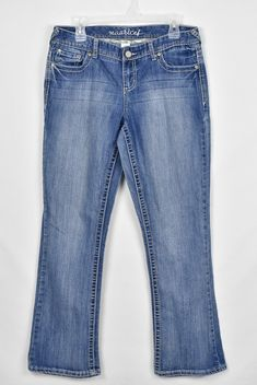 354d2d0657bd4 9.09 | Maurices Womens Dylan Straight Medium Wash Denim Blue Jeans Size 9/10