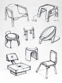 Various chair sketches - Design Sketchbook II on Behance - Matt Seibert