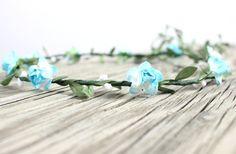 Aqua Flower Crown