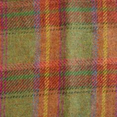 Magee™Official | Green Orange and Red Check Tweed By The Metre