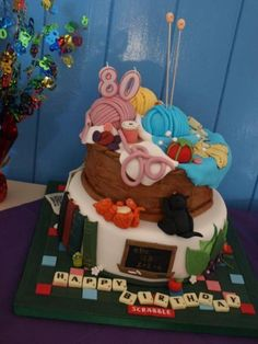 'I made this for my Grandma's Birthday! She was totally thrilled which made all the hard work and many many many hours worthwhile!' Cake by Mumsnet poster Bebejones 80th Birthday, Birthday Ideas, Novelty Cakes, Make All, Cake Decorations, Hard Work, Cake Ideas, New Books, Breads