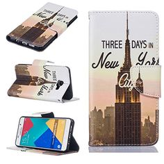 Samsung Galaxy A510 Case [With Tempered Glass Screen Protector],Fatcatparadise(TM) Anti Scratch Flip Soft Silicone Back Cover Case ,Stylish Printed Cute Colorful Pattern Magnetic Detachable Premium PU Leather Folio Book stytle Credit Card Holder [with Lanyard Strap/Rope] Wallet Embedded Case Cover F