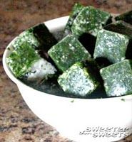 Kale ice cube purees to slip into other foods! #CSA_veggies, #CSA_kale, #greens