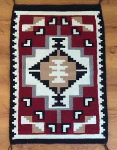 Circa1980 S Vintage Navaho Weaving 25 X 37 Antique Navajo Rug Textile