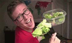 When you try to look healthy for Instagram. | Community Post: 19 Tyler Oakley GIF Reactions For Everyday Situations