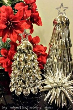 s 20 fake christmas trees you ll wish you d seen sooner, christmas decorations, repurposing upcycling, seasonal holiday decor, Silver Spoons Spectacular
