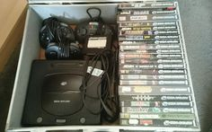PAL Sega Saturn Console and Games  #retrogaming #HotSS  console does not work but with 20 average games. Auction from the UK.