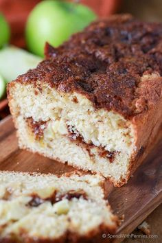 ~ Warm Apple Bread with Cinnamon! If you like apple pie, you'll go crazy for this…