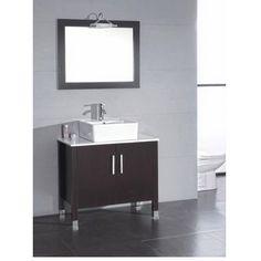 "Found it at Wayfair - Hickory 36"" Single Bathroom Vanity Set with Mirror"