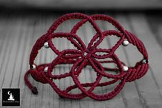 Seed of Life Macrame Bracelet handmade bracelet sacred geometry flower of life boho gypsy fairy pixie hippie jewelry sacred jewellery