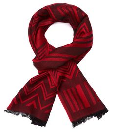 Two tone red scarf from Yarnz