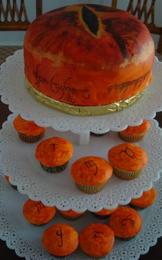 Lord of the Rings Eye of Sauron Cake and Cupcake Tower on Global Geek News.