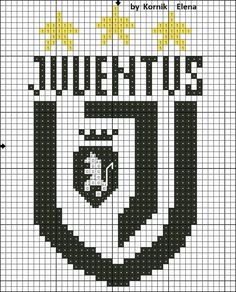 Pixel Art Juventus, Image Pixel Art, Diy Embroidery, Art Logo, Cross Stitching, Crafts, Gd, Design, Stockings