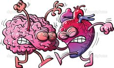 Brain fighting against heart - illustratoons Heart Rhythms, Brain And Heart, Gift Store, Trauma, Bowser, Sonic The Hedgehog, Illustration, Fictional Characters, Rebel