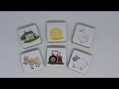 Once upon a story stone - farm add on pack Stone Farms, Story Stones, Coasters, Packing, Ads, Youtube, Bag Packaging, Coaster, Youtubers