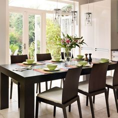 Bright modern dining room