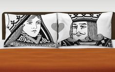 King and Queen Pillowcases by LoveAddix on Etsy