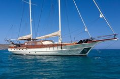 Guests of the Aegean Schatz can expect 5 star services and accommodation when sailing the Greek Islands. This magnificent 30 meter motor sailer provides 5 luxurious cabins for up to 10 guests.