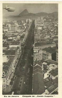 Av Central  hoje Av Rio Branco Anos 30