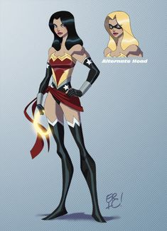 DC/Marvel Mash-up Ms. Wonder (Wonder Woman/Ms. Marvel) - Eric Guzman