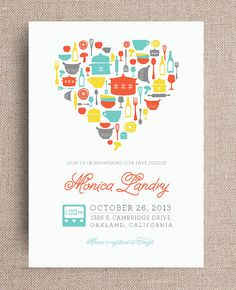 Kitchen cooking theme bridal wedding shower invitation with rsvp kitchen theme bridal shower invitation digital by joliejoliedesign filmwisefo