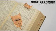 Origami Neko Bookmark (Jo Nakashima), via YouTube.