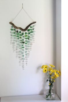 Sea Glass & Driftwood Mobile... beautiful
