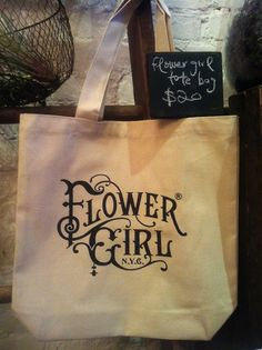 flower girl tote bags are now for sale!!