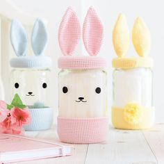 Crochet Pouf, Crochet Bunny Pattern, Crochet Books, Easter Crafts, Fun Crafts, Diy And Crafts, Crafts For Kids, Crochet Jar Covers, Blog Couture