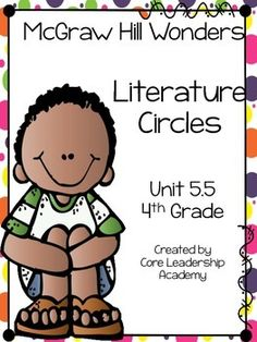 Thinkmark Literature Circle graphic organizer ~ Unit 5.5~There are 4 different levels approaching, on, ell, and advance!  Great for literacy centers! Enjoy!