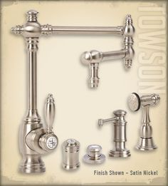 Waterstone faucets- Towson suite Kitchen Faucet, Suite, Traditional Kitchen, Plumbing, Kitchen Dinning, Grey Cabinets, Faucet, Hardware, Towson