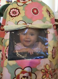 Jogging Stroller Cover Tutorial - Peek-a-Boo Pages