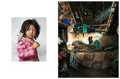 7 Year old Indira works in a granite quarry in Katmandu, Nepal