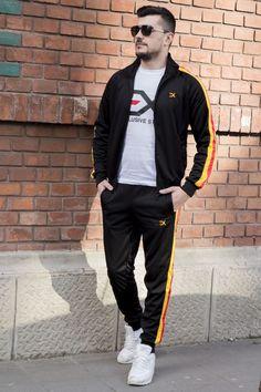 Trening EX Negru-Galben-Rosu TRX7 Bomber Jacket, Slim, Jackets, Style, Fashion, Lab Coats, Moda Masculina, Men's, Down Jackets