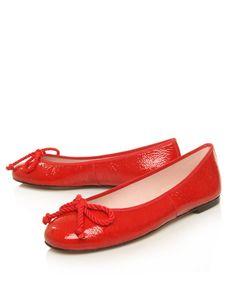 Pretty Ballerinas Red Ami Patent Ballerina Flats