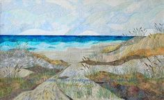 Path to the Beach.  Art quilt beach scene by Eileen Williams.: